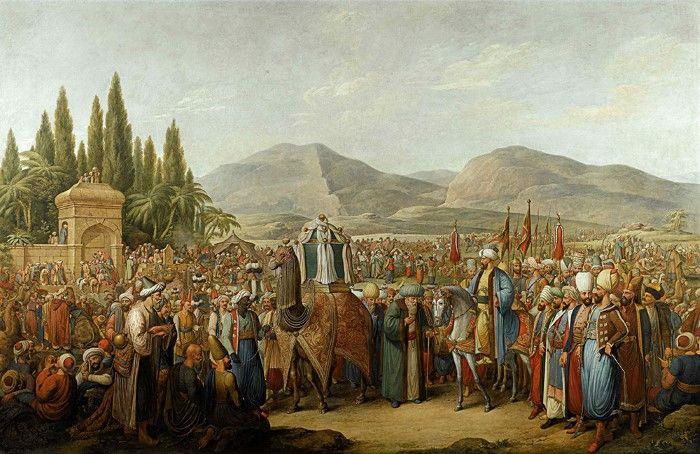 Георг Эмануэль Опиц. Прибытие мехмеля к оазису на пути в Мекку. 1805–1825.