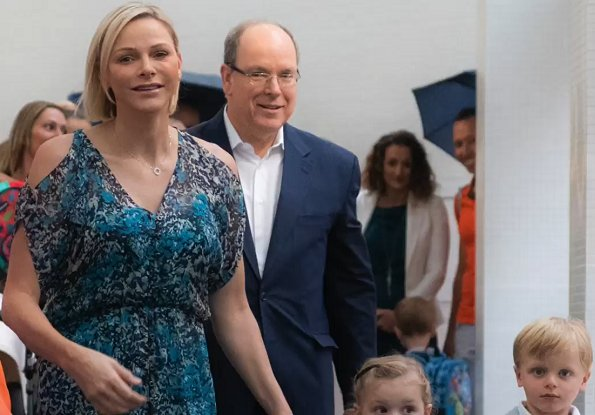 Prince Albert II, Princess Charlene, Crown Prince Jacques and Princess Gabriella