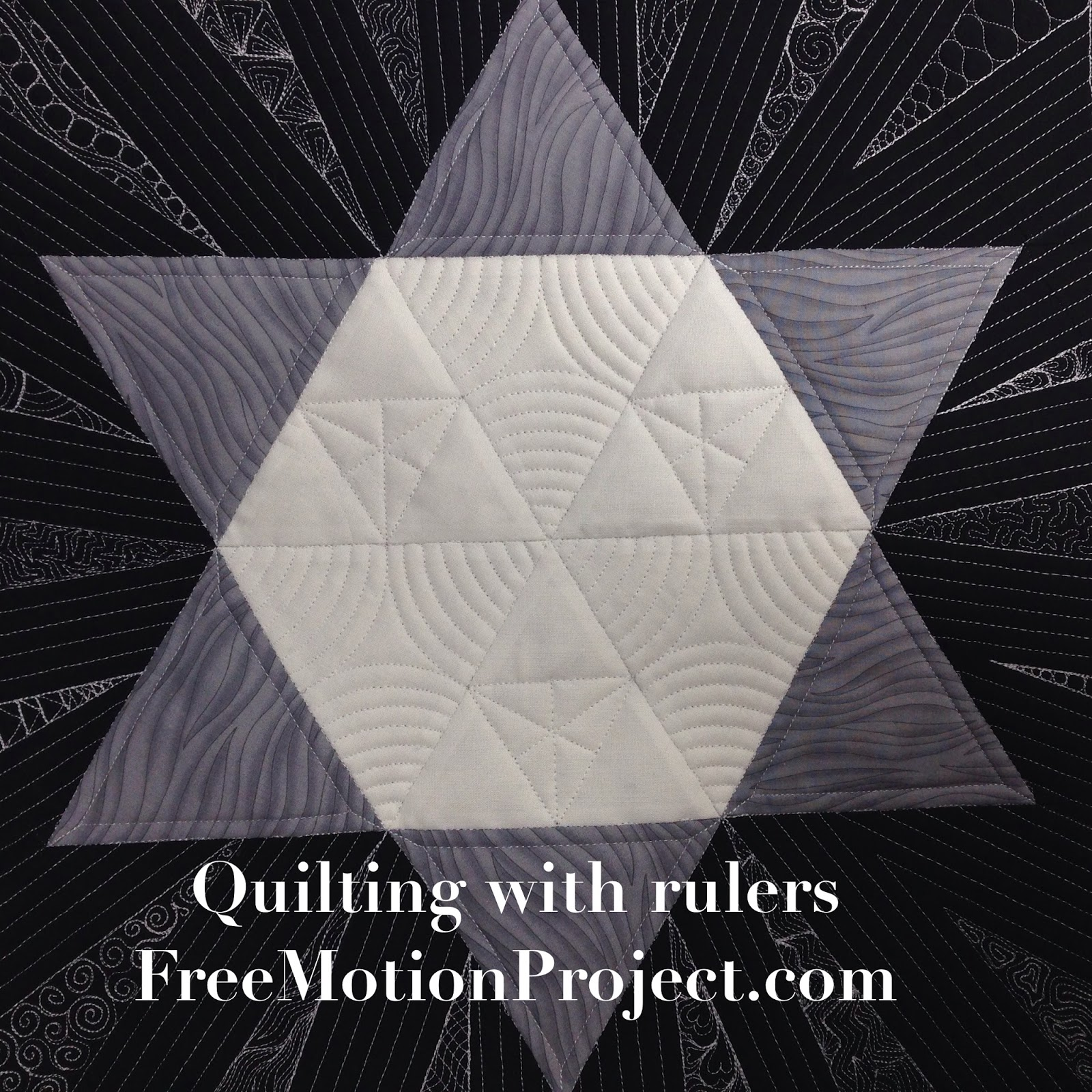 Machine Quilting A Star Block With Rulers Free Motion