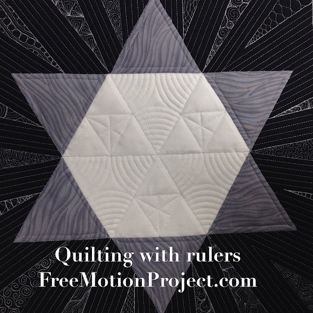 Learn how to machine quilt with rulers