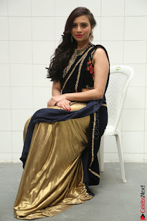 Priyanka Ramana in Beautiful Designer Black Saree At We Craft Elegance Expo Launch 006.JPG