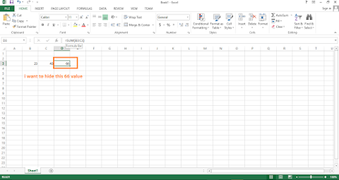 Hide Result in Excel