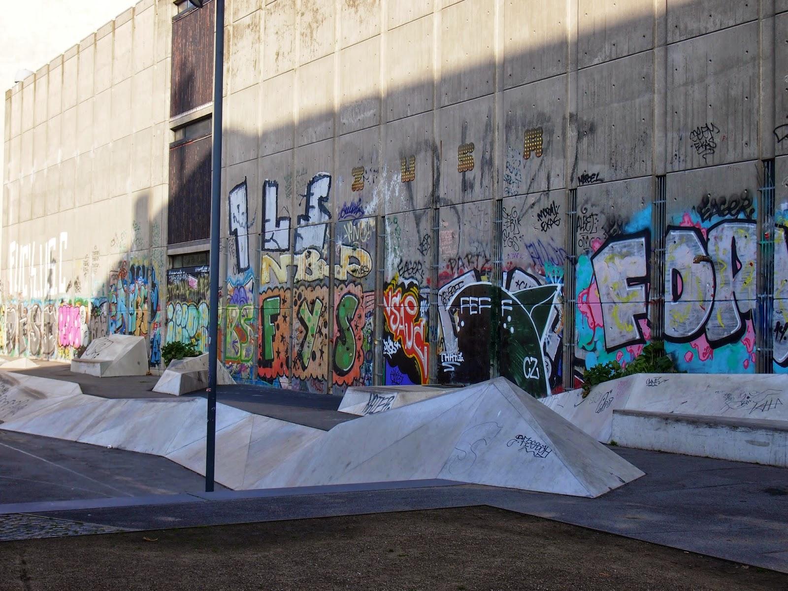 street art in a skate park in copenhagen