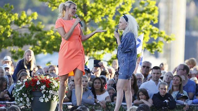 Sanna Nielsen y Wiktoria en Skansen (Photo: aftonbladet.se)