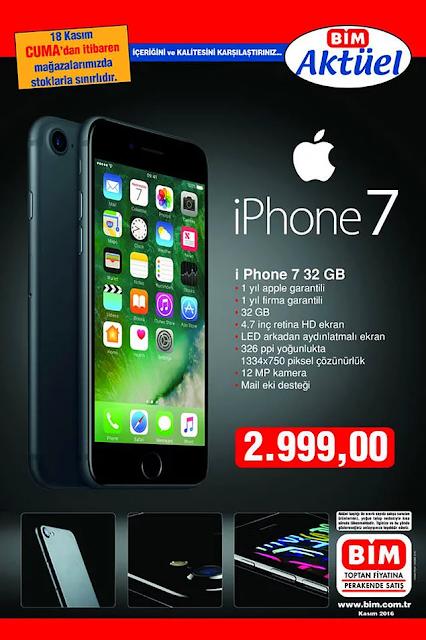 iPhone 7 Bim satış fiyatı