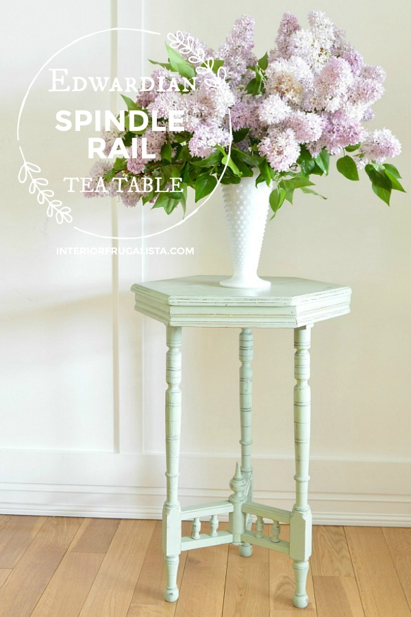 Edwardian Spindle Rail Tea Table Makeover