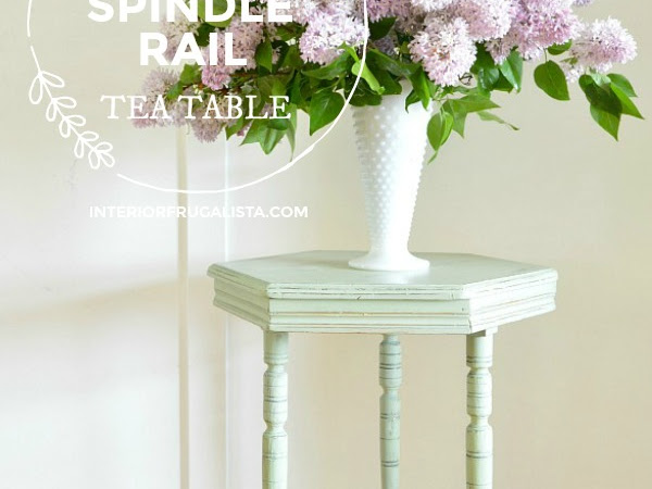 Edwardian Hexagon Spindle Rail Tea Table