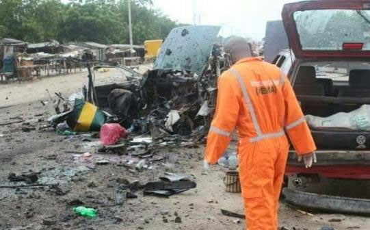 Graphic photos: Bomb blast kills 8 people in Maiduguri