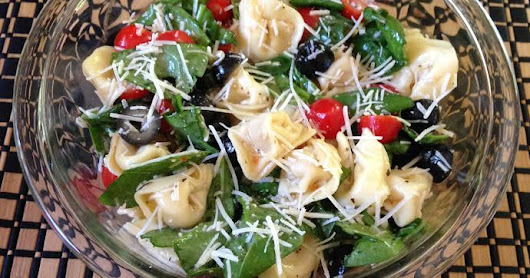 Recipe Post: Spinach and Tortellini Salad