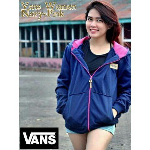 Jaket Wanita Vans Navy Pink bazer  4c06a82b28
