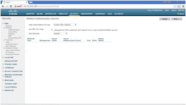 My CCNA Wireless Journal: Configuring a RADIUS Server (Cisco ISE) on