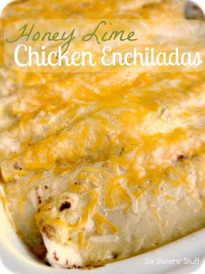 Honey Lime Chicken Enchiladas Recipe