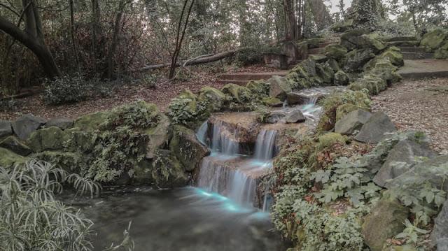 Cascata nel parco della Reggia di Caserta