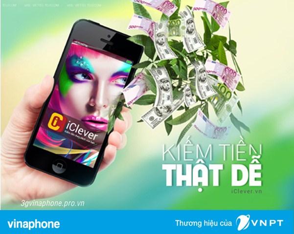 Dịch vụ iClever Vinaphone - Kiếm tiền thật dễ