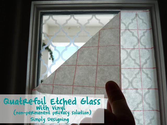 Quatrefoil Etched Glass Window 05a Quatrefoil Etched Glass 5