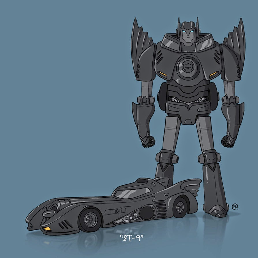8T-9 Batmobile Rawlsy Transformer Batman