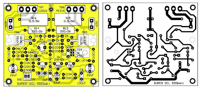 PCB Layout Design SOCL Power Amplifier