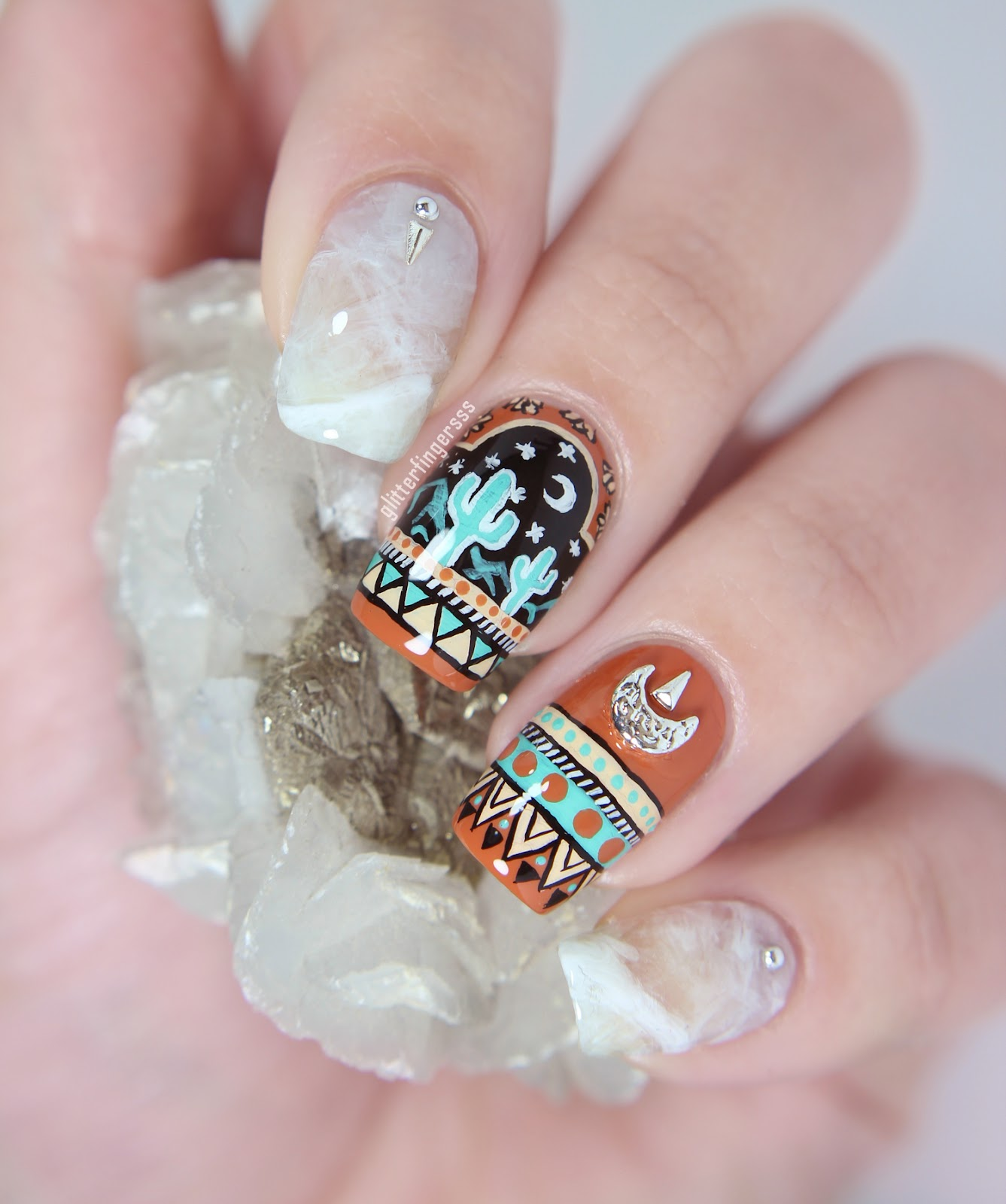 Mexican Crystals + tutorial ~ Glitterfingersss in english