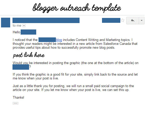 Blogger-outeach-template