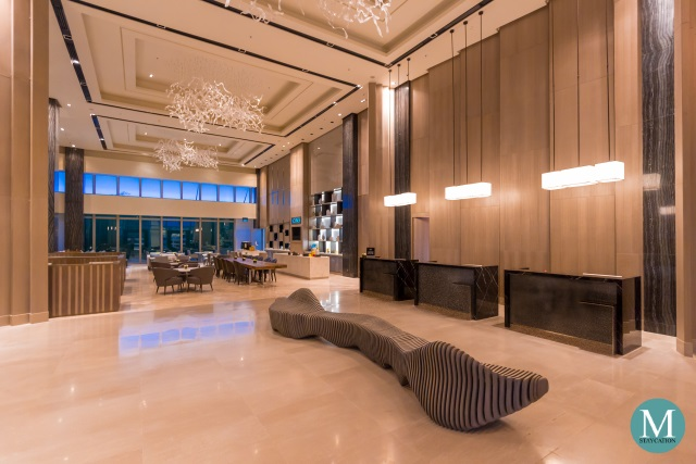 Lobby of Clark Marriott Hotel