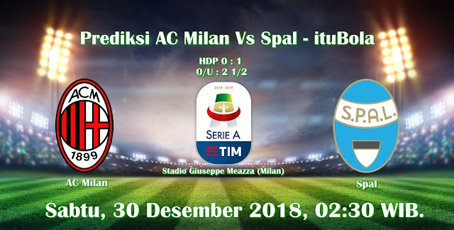 Prediksi AC Milan Vs Spal - ituBola