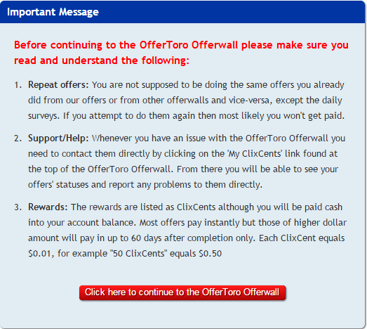 Read terms and conditions to continue | Clixoffers