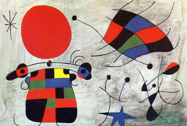 Quadro astratto di Joan Mirò