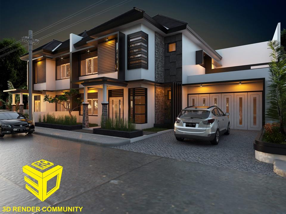 3ds max model modern house 09 architecture design for Modern house sketchup