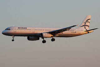 Airbus A321 of Aegean Airlines