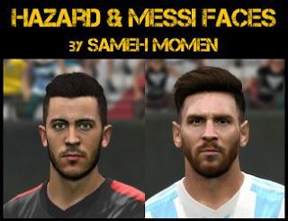 PES 2016 Hazard & Messi faces by Sameh Momen
