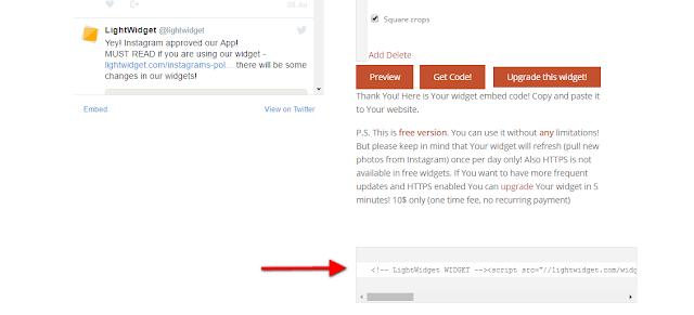 Cara Mudah Memasang Widget Instagram di Blogspot