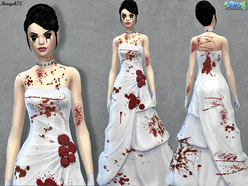 Sims addictions sims 4 bloody bridal dress for Pc mary s wedding dress