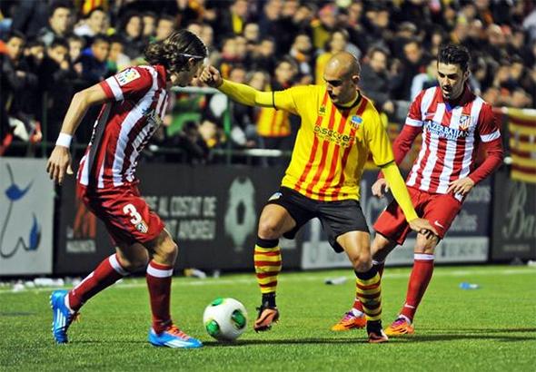 Ton Alcover durant el Sant Andreu 0-4 Atlético de 2013    Judit Andreu - UE  Sant Andreu cb9e6f707f2c2