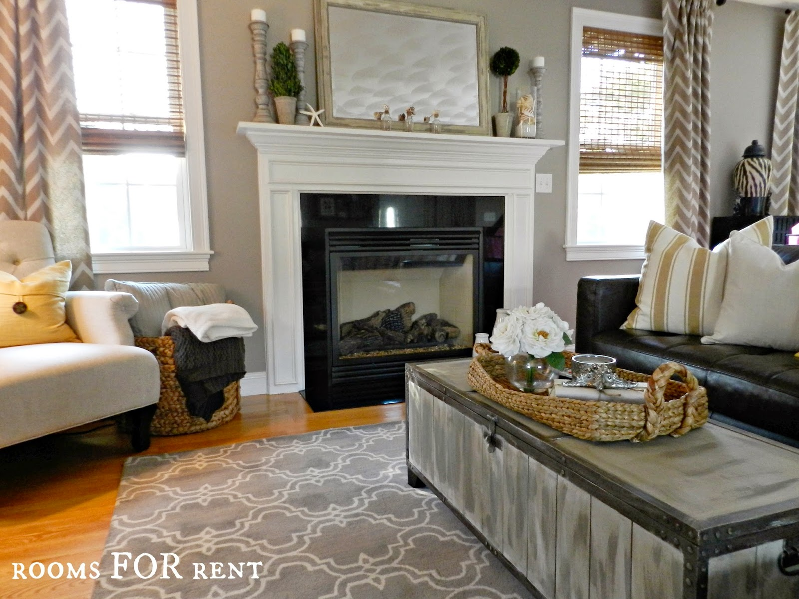 decorating with dark leather sofa cushion ideas for black how to style a den makeover beneath
