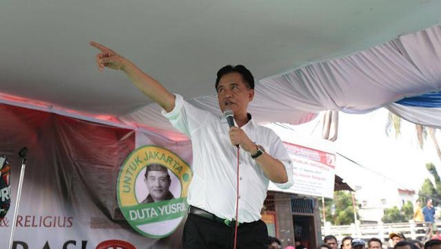 Warga Jembatan Besi Jakbar Deklarasi Dukung Yusril Jadi Cagub DKI