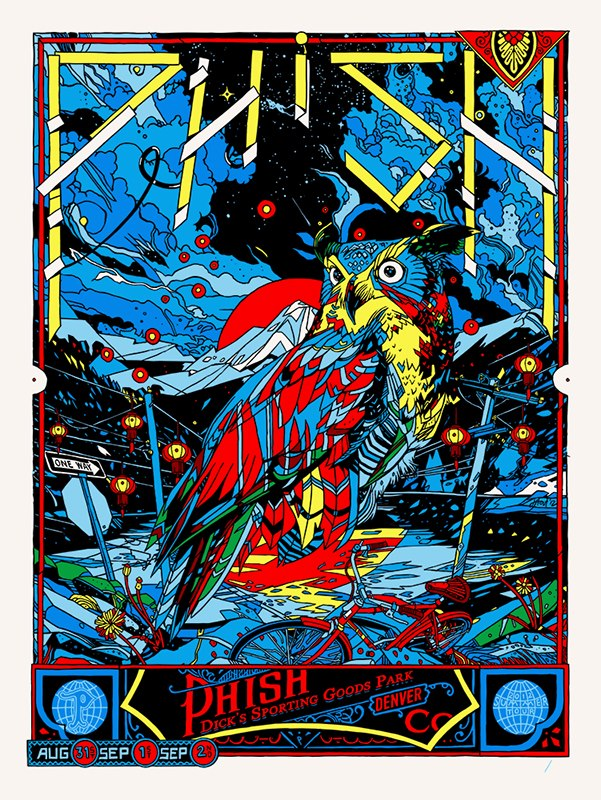 Inside The Rock Poster Frame Blog This Weekends Phish