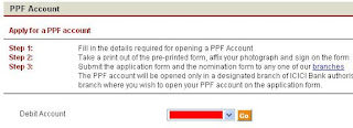 Open Online PPF Account Through ICICI Internet Banking