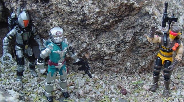 1991 Desert Scorpion, 1987 Cobra Commander, 2008 Headhunter BAT
