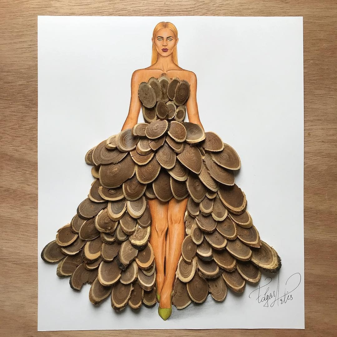 11-Lost-in-the-woods-Edgar-Artis-Multimedia-Drawings-and-Food-Art-Dresses-www-designstack-co