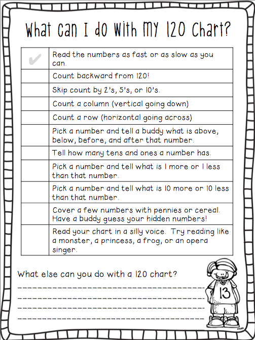 Ship Shape First Grade Go Math And A Freebie 120 Chart