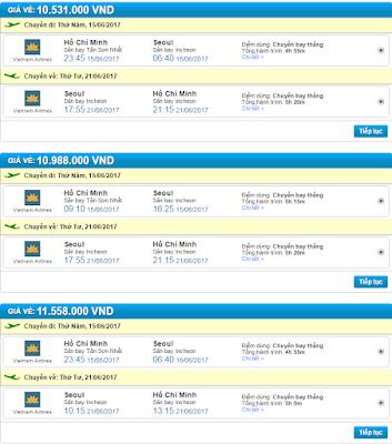 Vé máy bay đi Seoul giá rẻ của hãng Vietnam Airlines