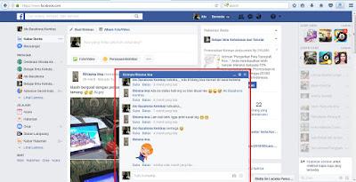 Tampilan facebook
