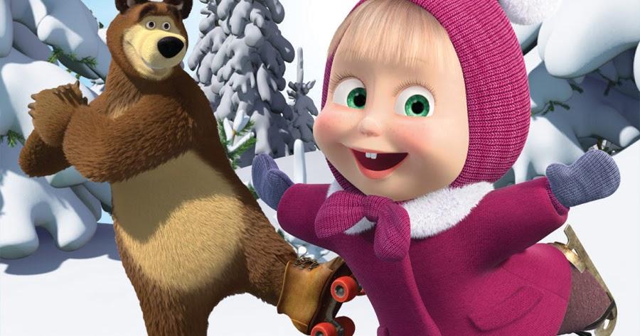 Маша и медведь зимние картинки маши