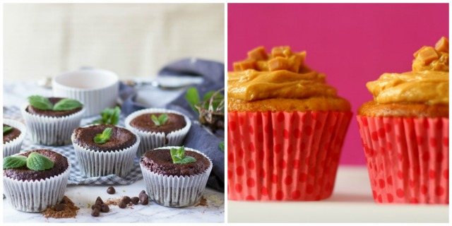 Cupcake recipes - Mint Chocolate Courgette Muffins, Banoffee Cupcakes