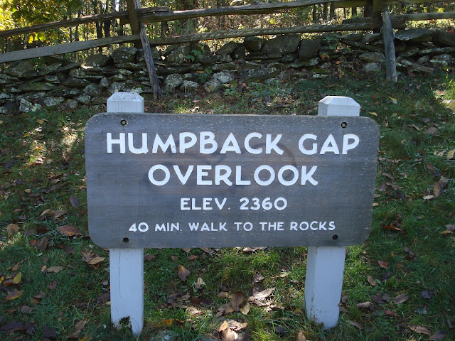 sign for humpback gap overlook