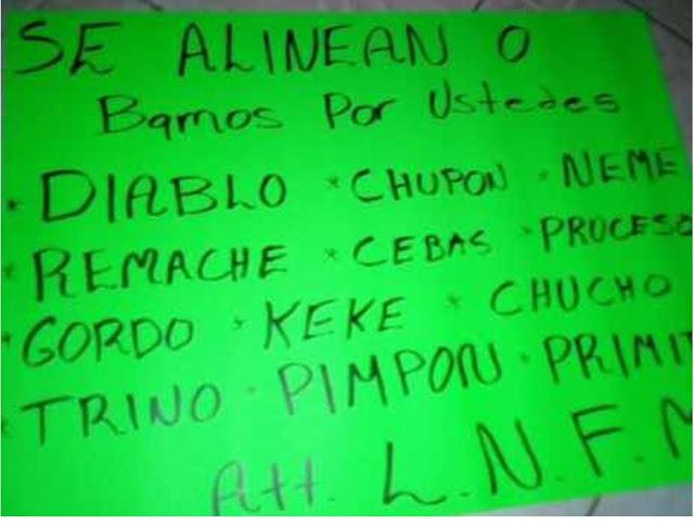 L.N.F.M deja hielera con restos humanos ,narcomanta y mensaje amenazante en Michoacán