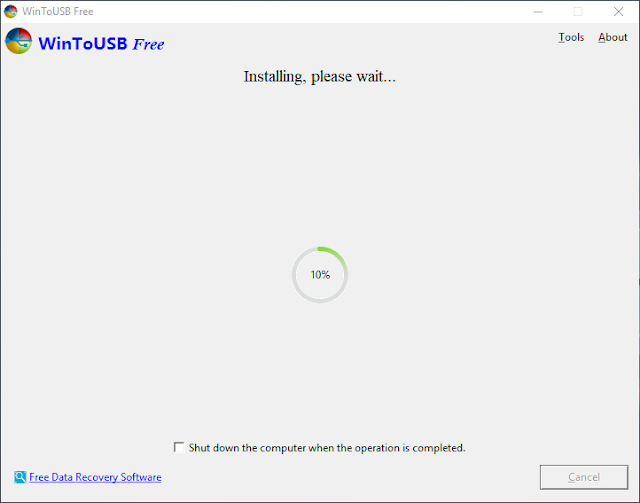Proses Install Windows Dengan WinToUSB