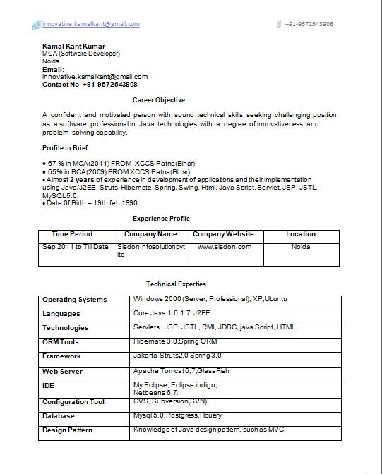 Best Software Engineer Resume Template Resume Samples Format ...