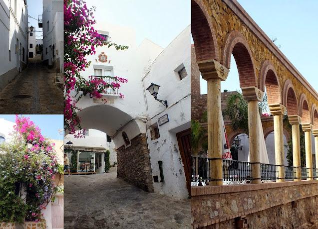 las bonitas calles del centro de Mojácar