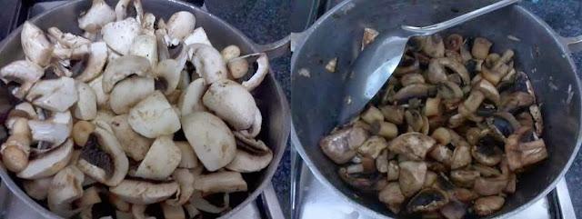 Receita de cogumelos de paris ao molho de queijo com filetes de vaca